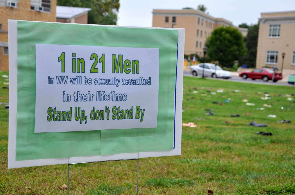 One in 21 men in West Virginia will be sexually assaulted in their lifetime. Stand up, don't stand by.