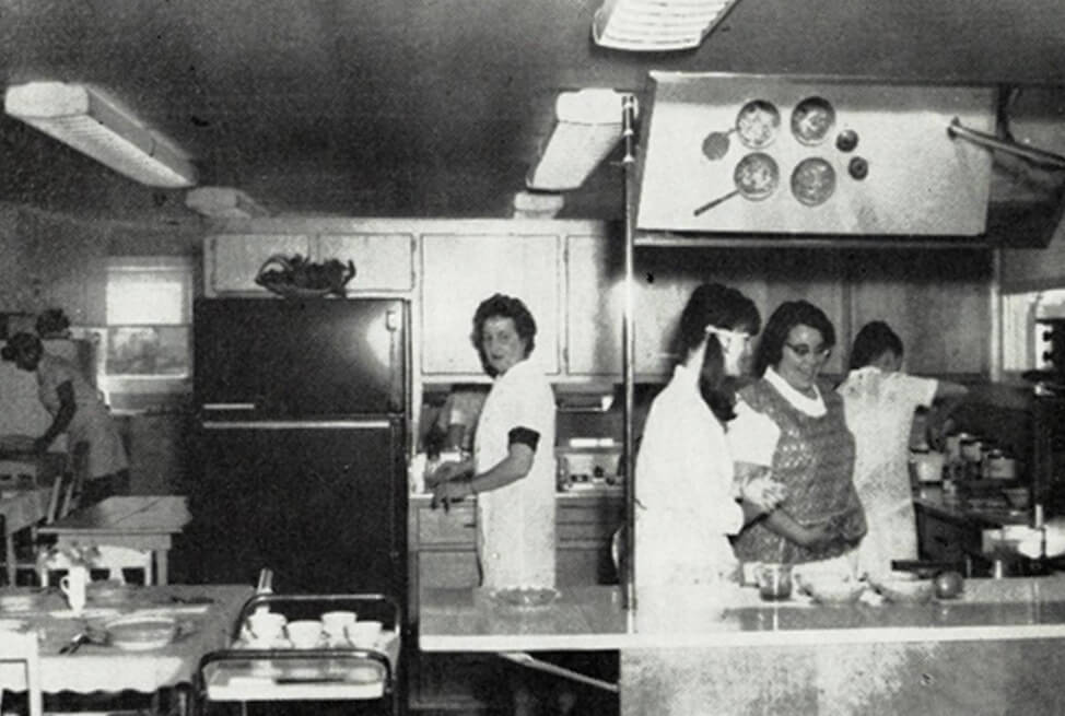 Home economics students in 1970