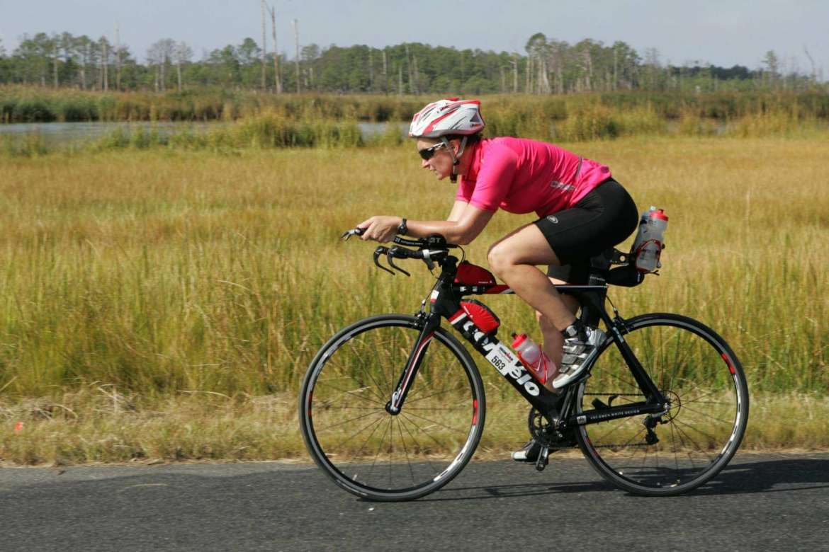 Dr. Karin Spencer, assistant professor of education at Shepherd University, competed in the Maryland Iron Man competition September 20 where she did a  2.4 mile swim, a 112 mile bike ride and a 26.2 mile marathon