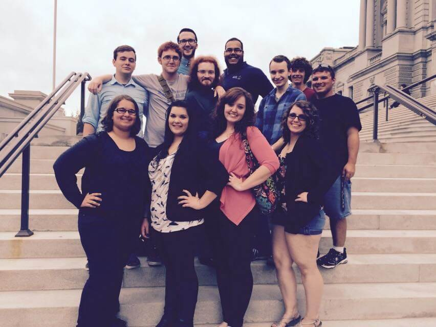 Students in the capstone music course at Shepherd University recently took a trip to the Library of Congress in Washington, D.C., where they got a behind-the-scenes tour, and were able to see historic artifacts from several famous composers.