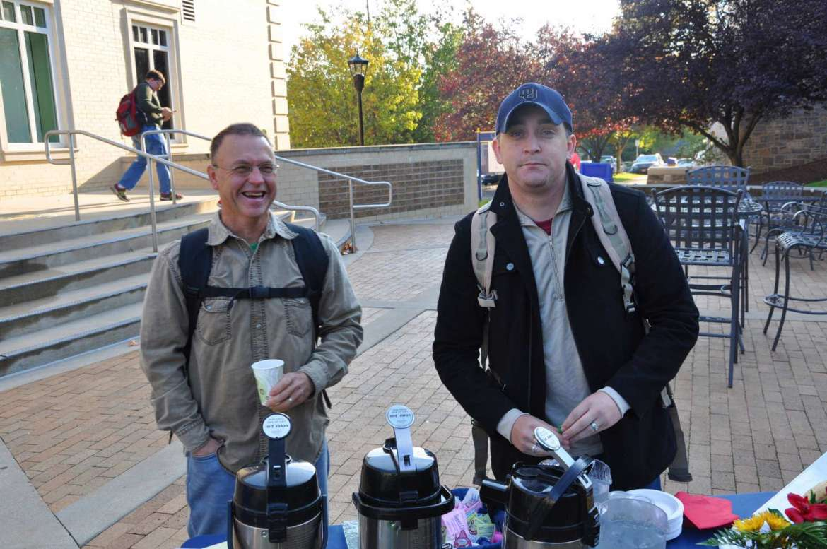 Veterans attend one of the bi-weekly coffee breaks hosted by Veterans Support Services.