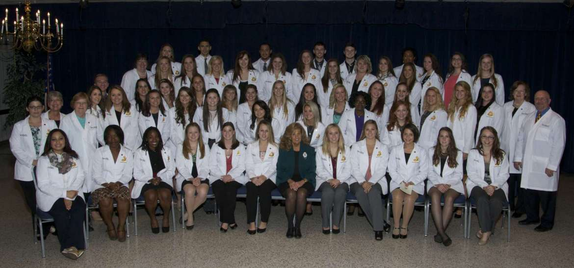 Fifty eight first-year nursing students participated in the Shepherd's first White Coat Ceremony.