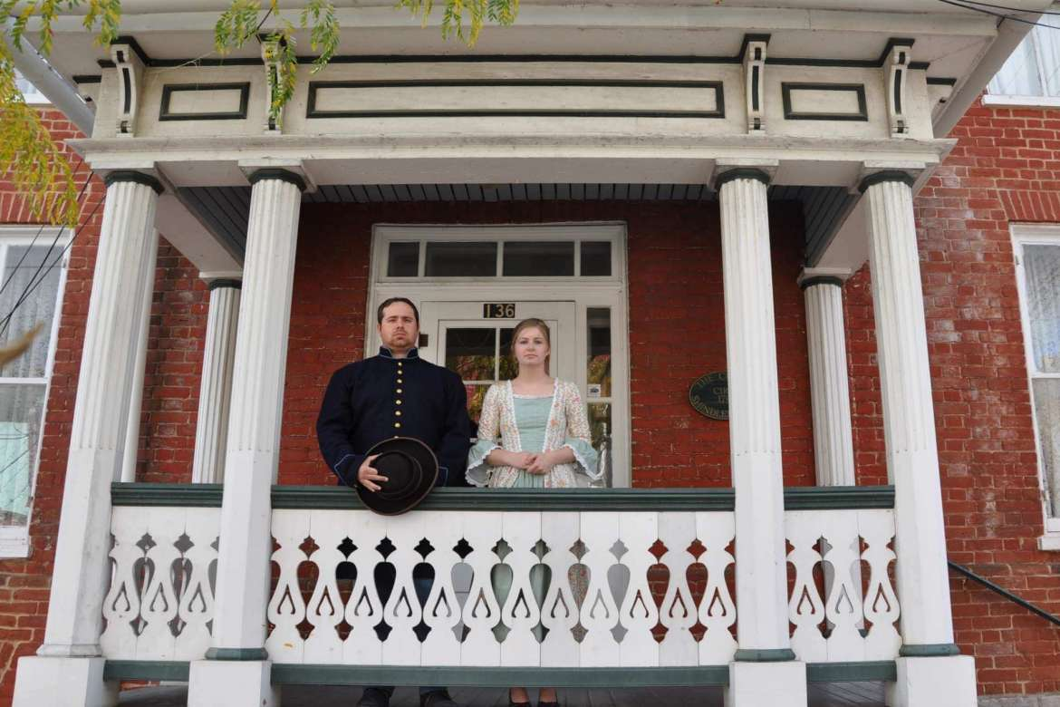 History majors Michael Galloway and Kayla Piechowiak are two of the Shepherd students volunteering for A Civil War Christmas in Shepherdstown sponsored by the George Tyler Moore Center for the Study of the Civil War, the Shepherd University Foundation, and the Department of History.