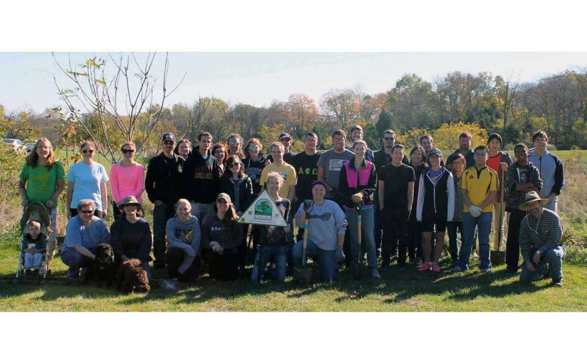 Forty-four volunteers helped plant trees on October 26.