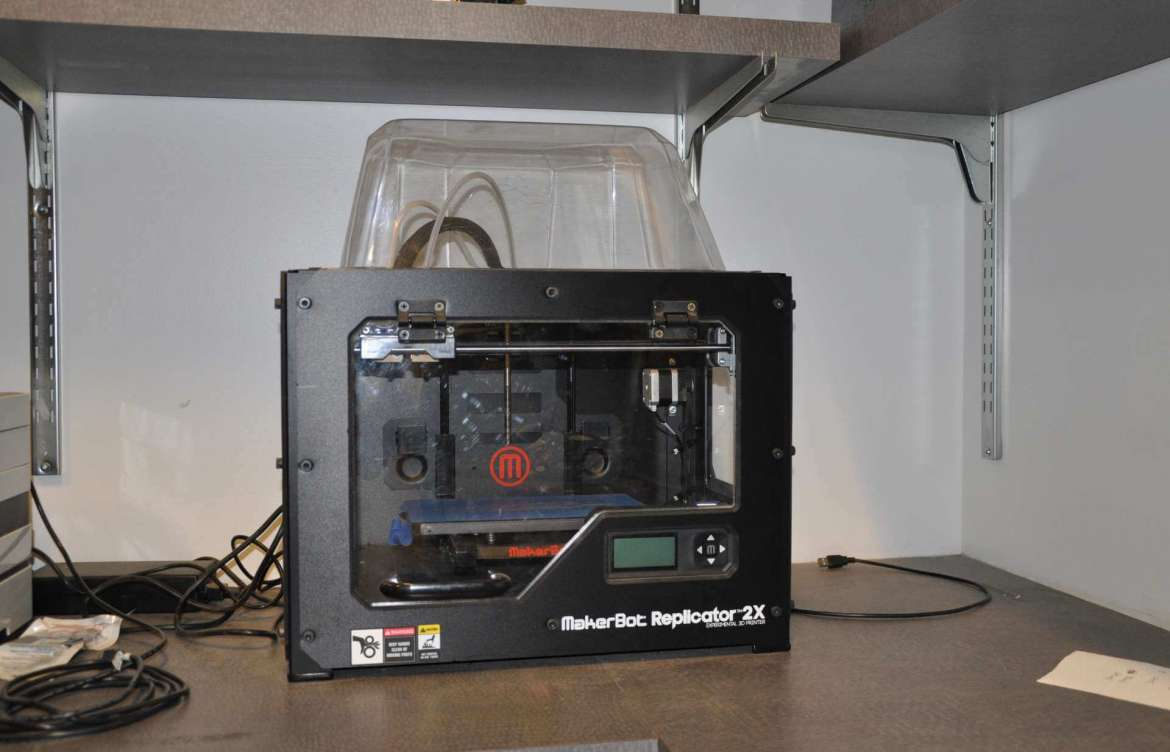 MakerBot Replicator 2X Experimental 3D printer will be used in the digital fabrication class.