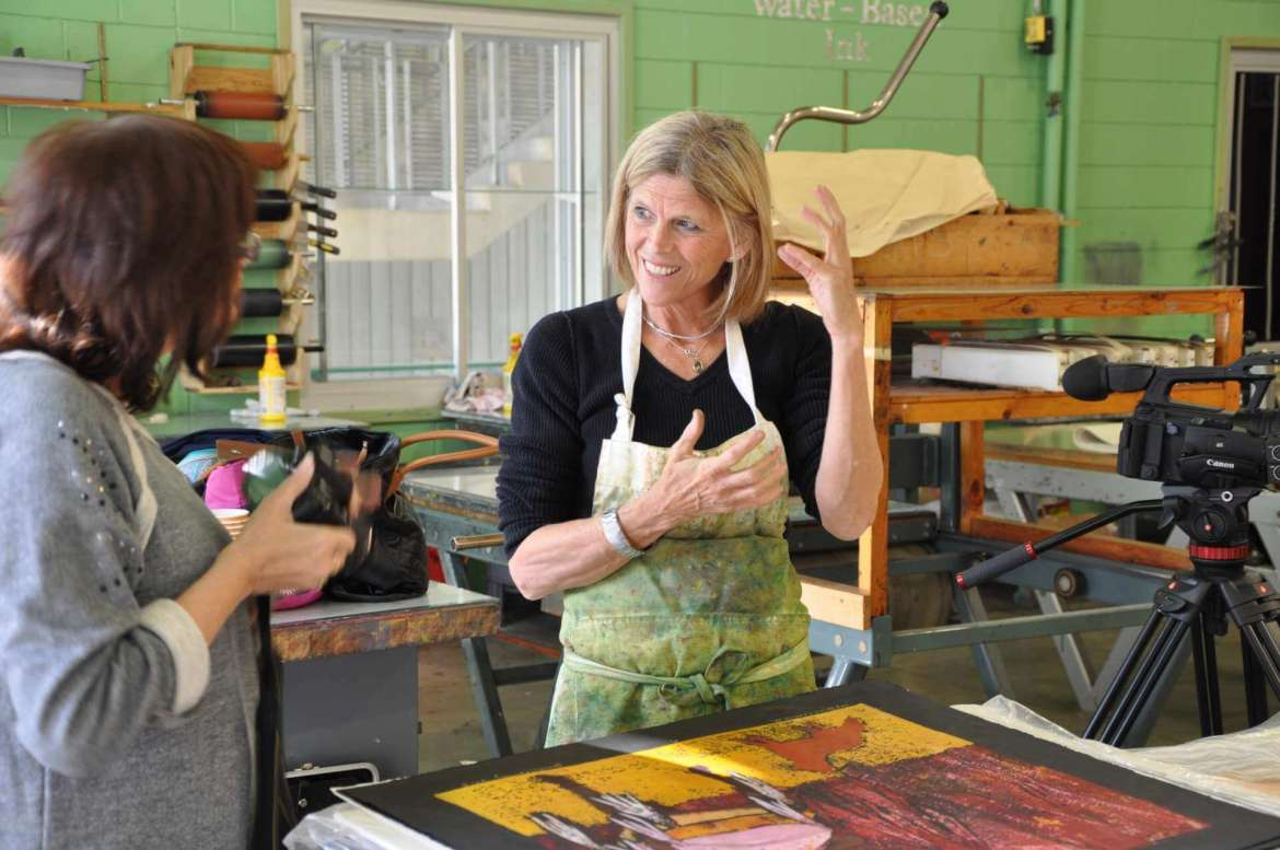 """Ms. Carney has developed a genuinely innovative method of creating prints, and students have already benefited hugely from her presence in the studio,"" Smith said. ""As a professional working artist who spends up to 8-10 hours a day in the studio, she is a reminder to the students that printmaking is about the exploration of the process and the willingness to make it work."""