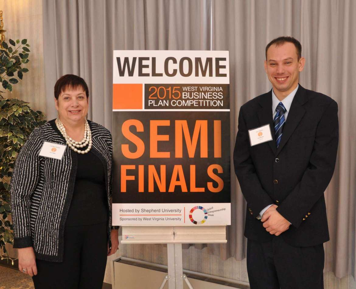 Dr. Caroline Glackin, the Edward L. Snyder Chair in business administration, and Alex Whalton.