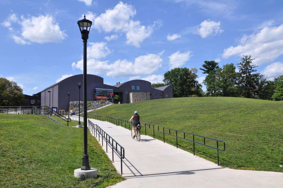 Bicycling across campus, and along the nearby C&O Canal and Antietam National Battlefield, is a popular activity for many students.