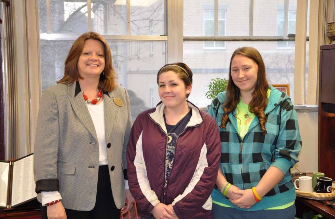 Shepherd University's Rotaract Club raised $1,000 to buy a ShelterBox to help those impacted by disasters. The club has now challenged the Boston University Rotaract to a competition to see which club can raise $500 the fastest so they can buy another box. (Left to right) Holly Morgan Frye, assistant vice president for student affairs and Rotoract advisor; Cassidy Watson of Berkeley Springs, Rotaract president; and Brianna Shuman of Mt. Airy, Maryland, Rotaract secretary.