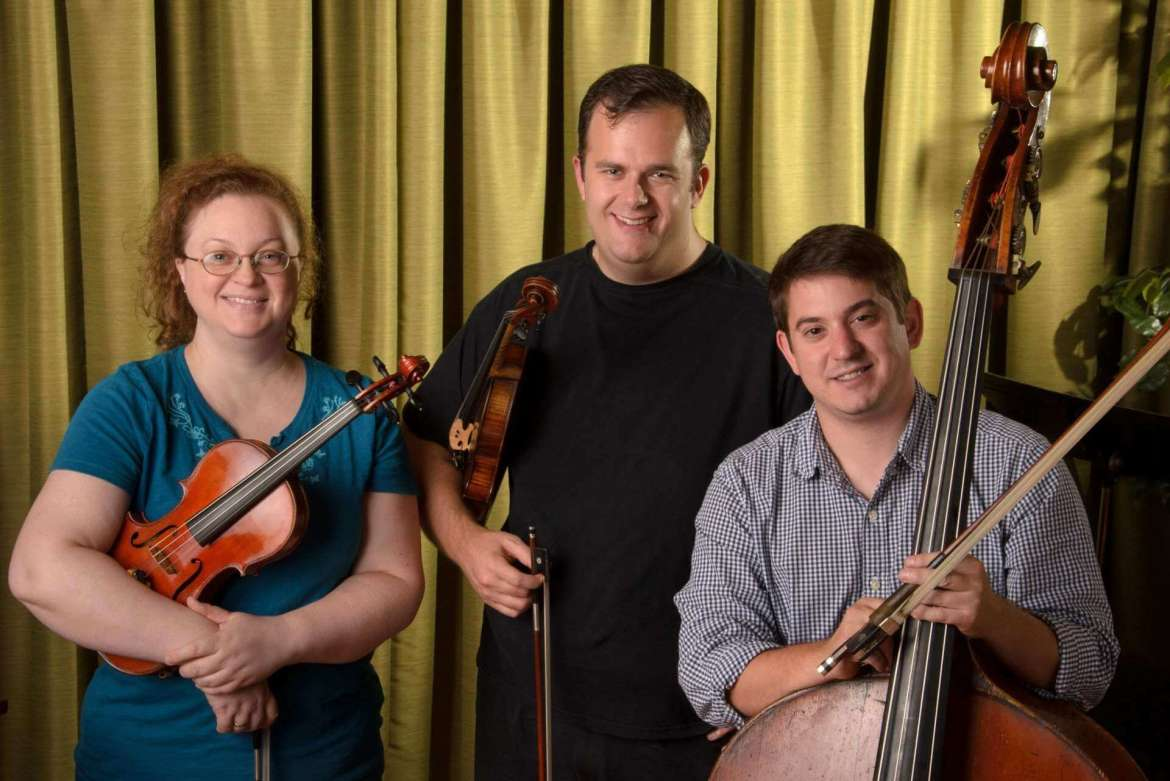 Shepherd University adjunct music faculty Heather Austin-Stone, Jeffry Newberger, and Edward Leaf will perform during the January 22 8 p.m. Music Salon Series concert in the Frank Center W.H. Shipley Recital Hall.