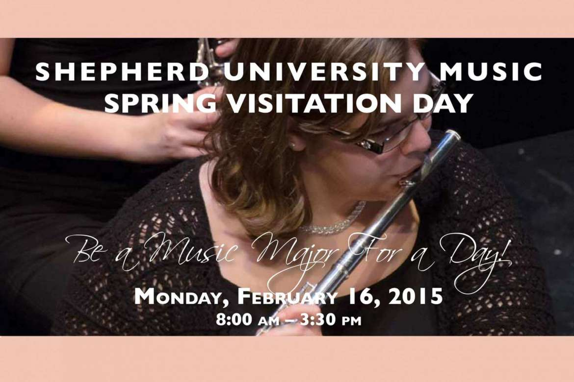 The Shepherd University Department of Music will host an open house on Monday, February 16 that is open to all high school juniors and seniors who are interested in pursuing a degree in music.