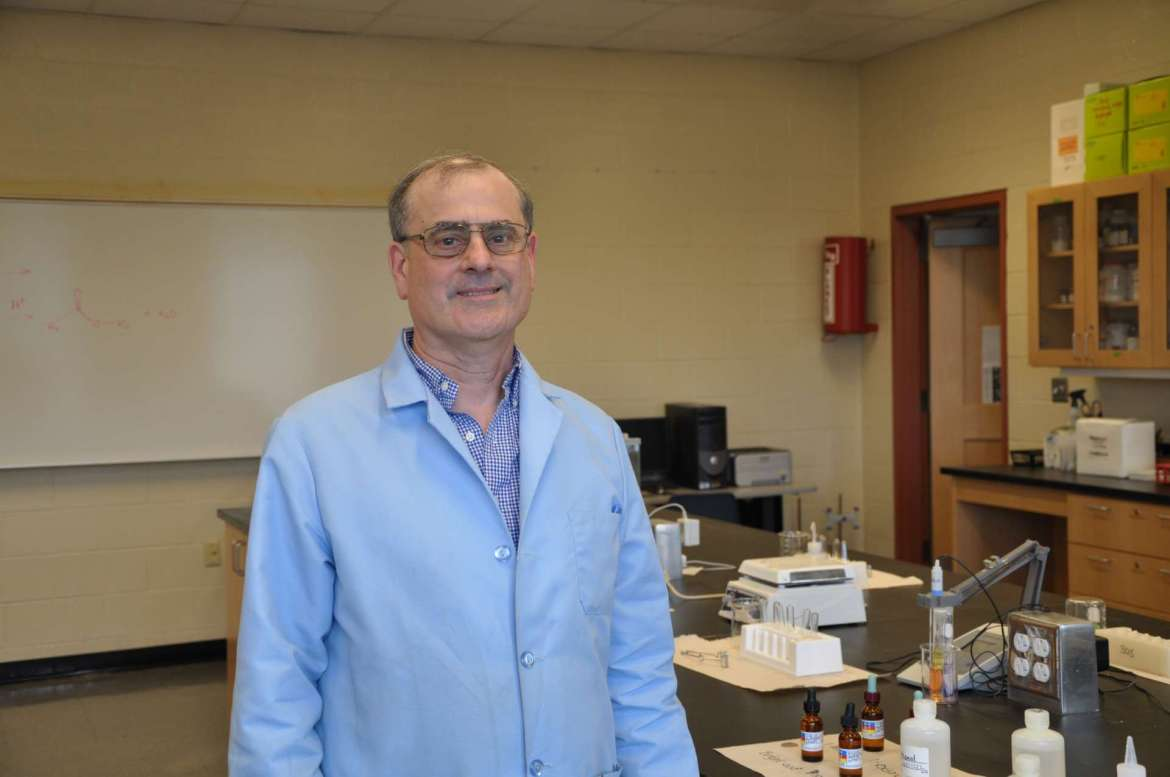 Dr. Dan DiLella, professor of chemistry and Department of Chemistry chair.