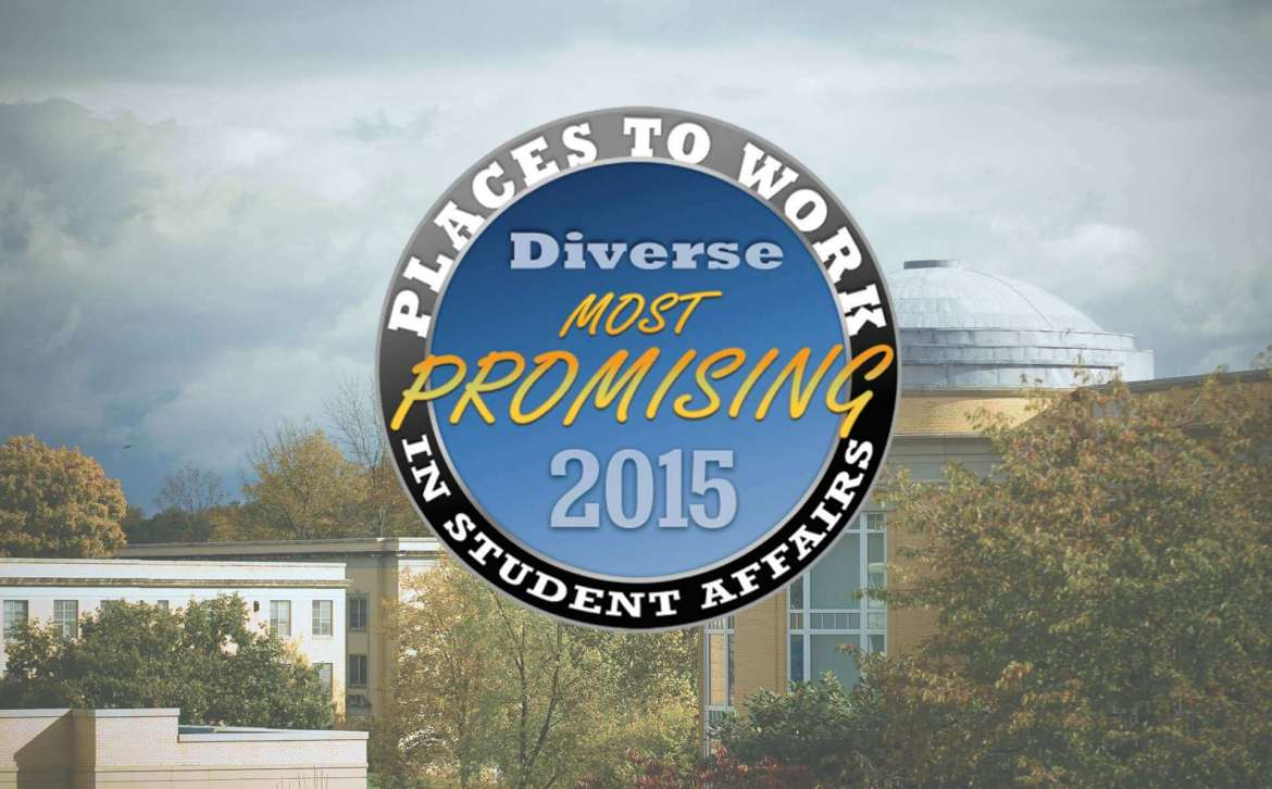 Shepherd University has been named one of the top 30+ Promising Places to Work in Student Affairs by the magazine Diverse: Issues in Higher Education and the American College Personnel Association (ACPA).