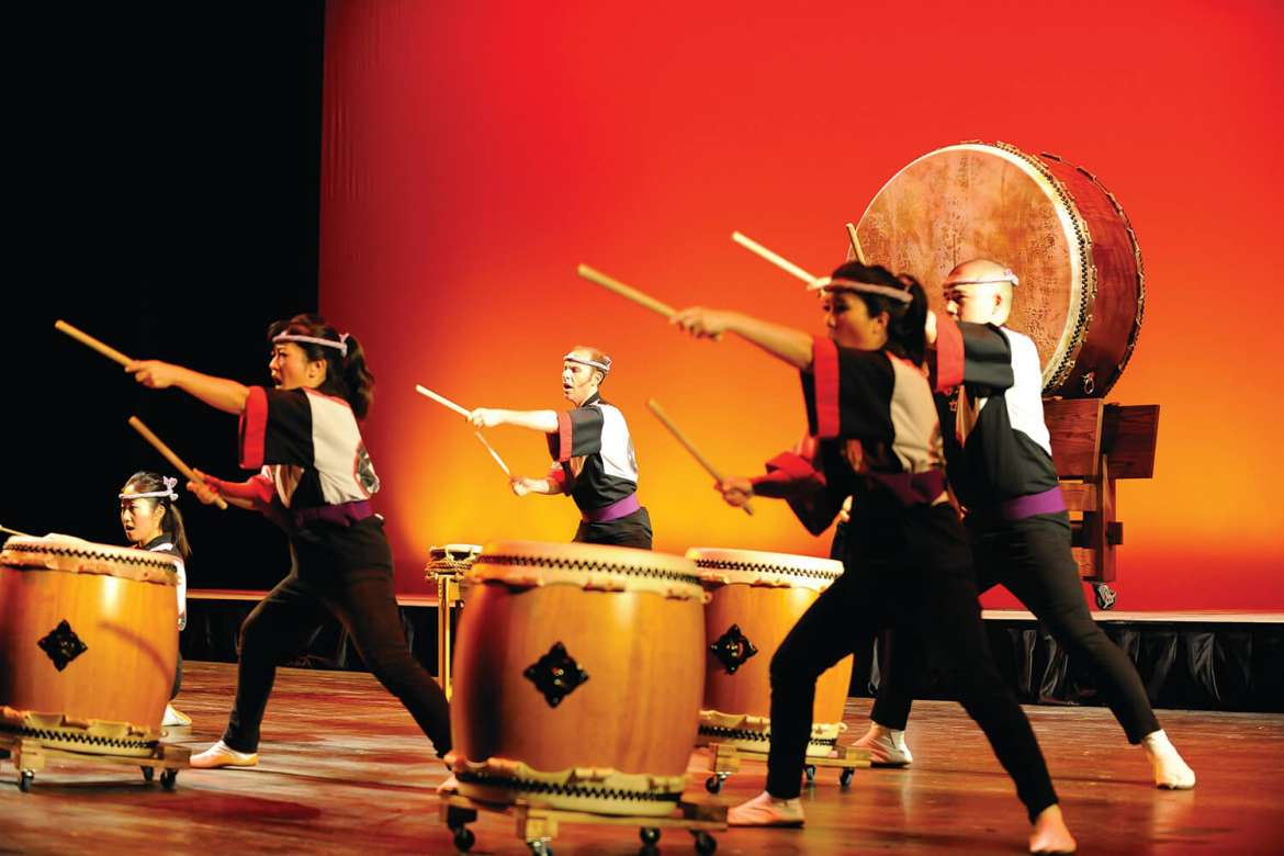 The Performing Arts Series at Shepherd University brings the Japanese thunder drumming of San Jose Taiko to the Frank Center Theater on Monday, April 13, at 8 p.m.