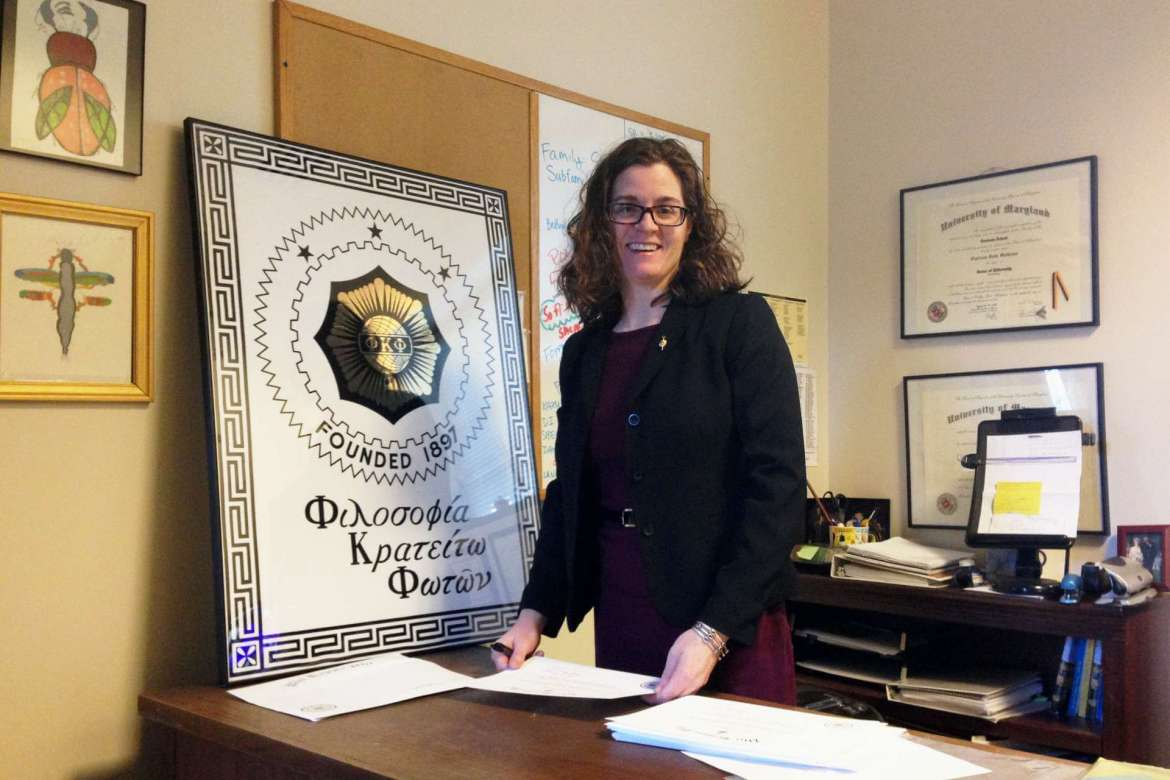 Dr. Clarissa Mathews, president of the Shepherd University chapter of Phi Kappa Phi honor society.