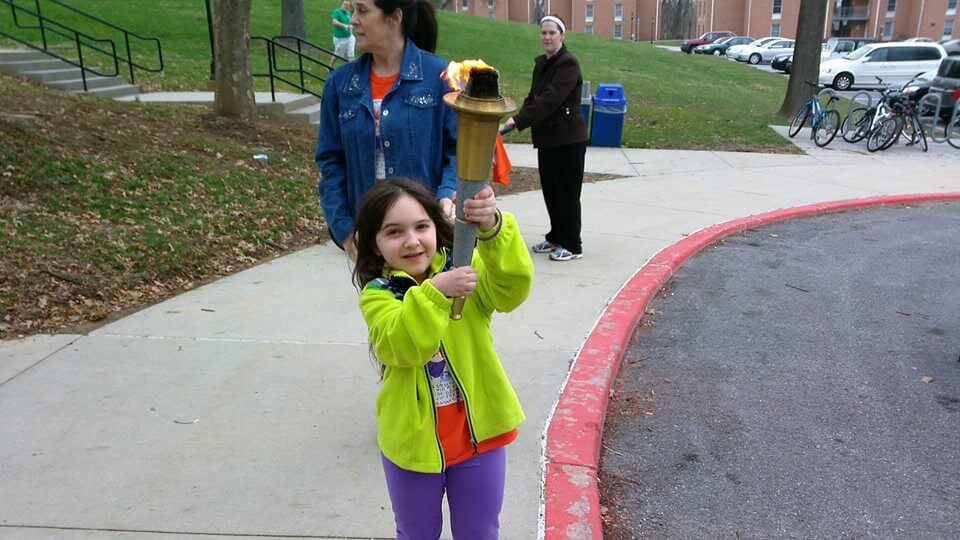 A young participant during Shepherd's Relay for Life 2014.
