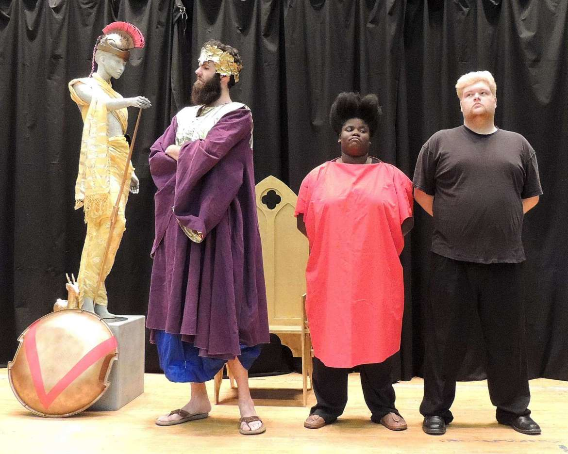 """Sapientia"" cast members: Ben Johnson, LaShawn Tolson, and Alex Hale."