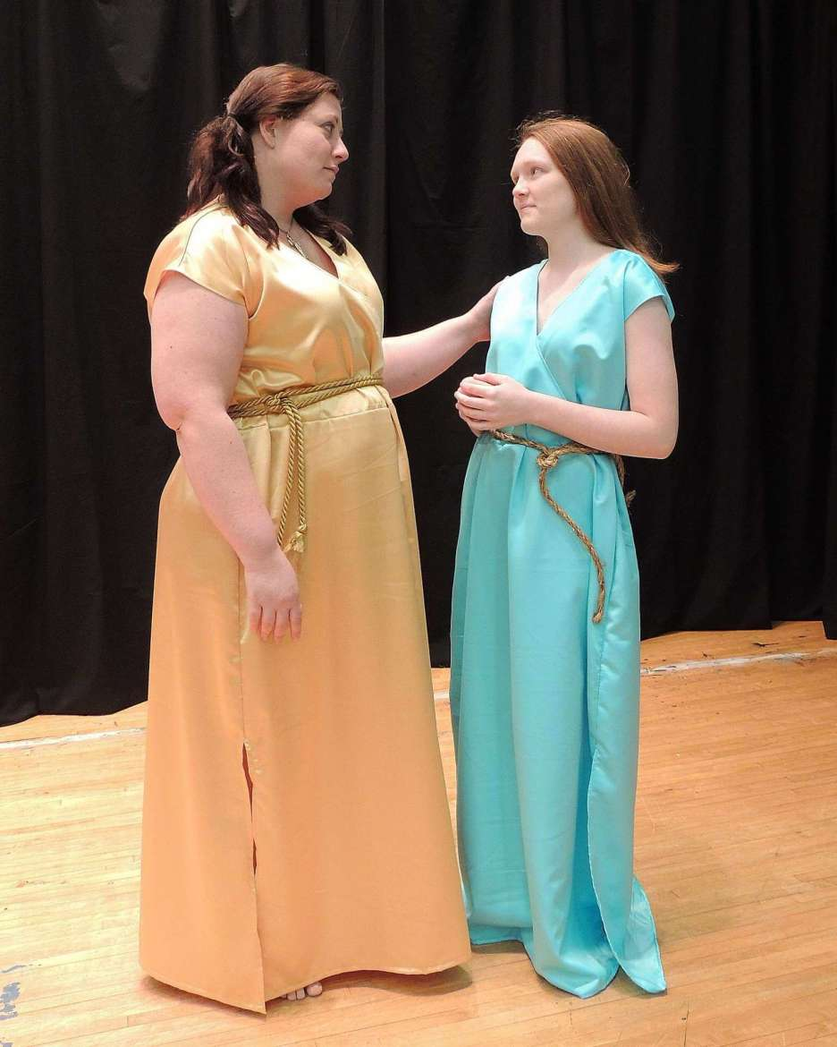 """Sapientia"" cast members: Jeannie Moore and Ashley Hall."