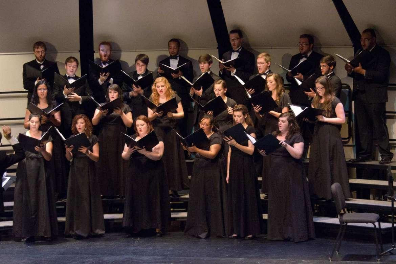 The Shepherd University Chamber Singers. Photo by John Crawford.