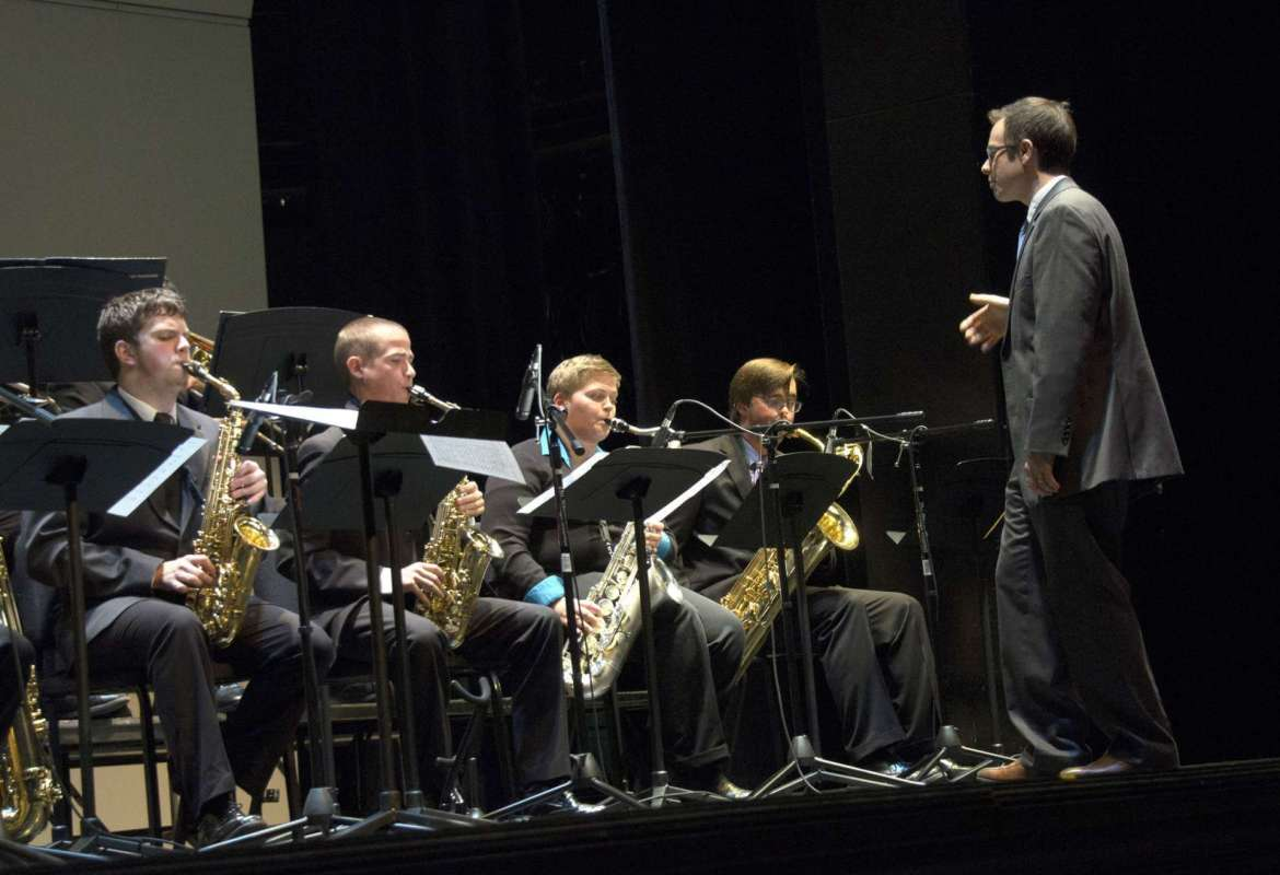 The Shepherd University Jazz Ensemble, under the direction of Dr. Kurtis Adams, assistant professor of music and director of jazz studies, will present a night of jazz at the Frank Center Theater on Tuesday, April 7 at 8 p.m.