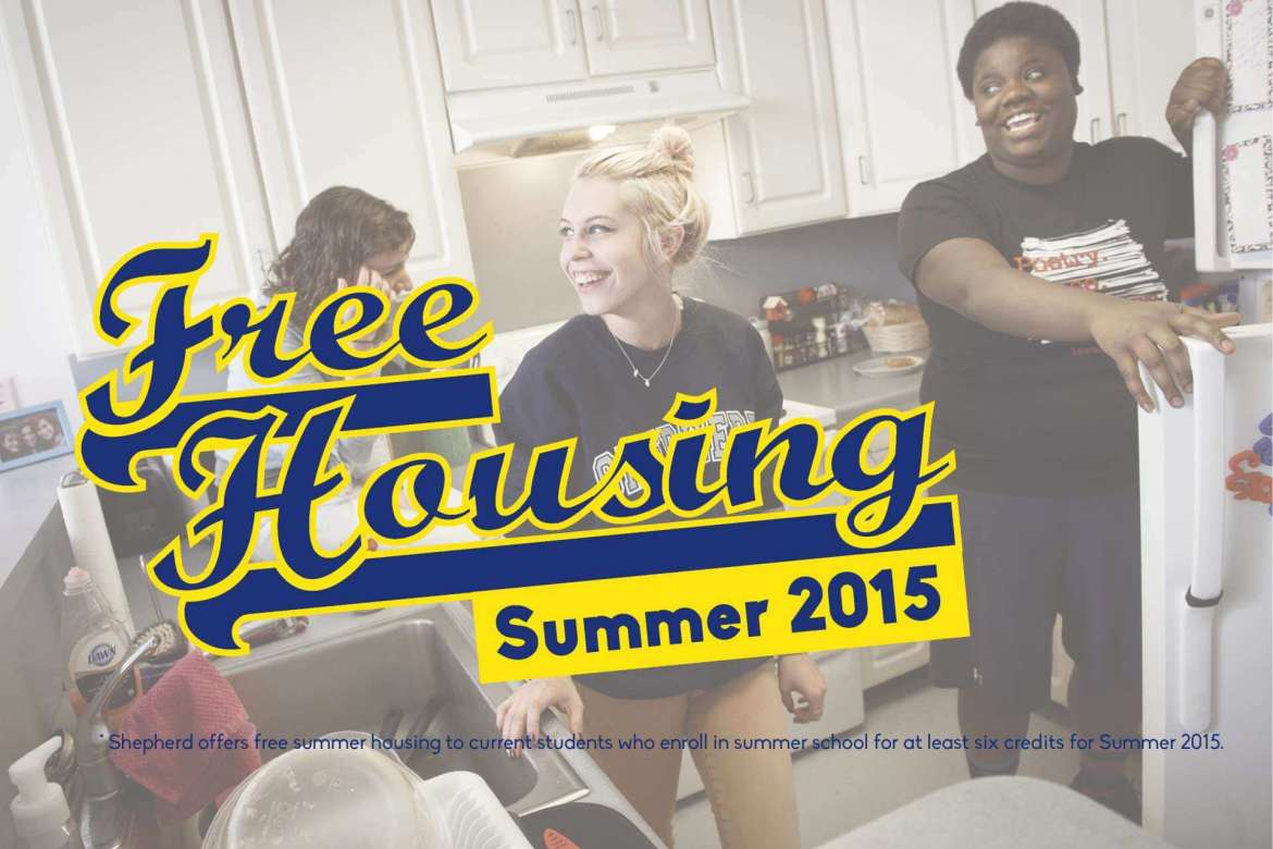 Currently enrolled Shepherd University students will have the opportunity to live in Dunlop and Printz residence halls free of charge this summer if they enroll in summer school.