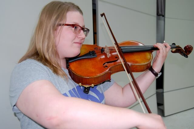 Adrielle Mills, a senior in secondary education, will be performing on viola and trumpet for the recital and in Italy.