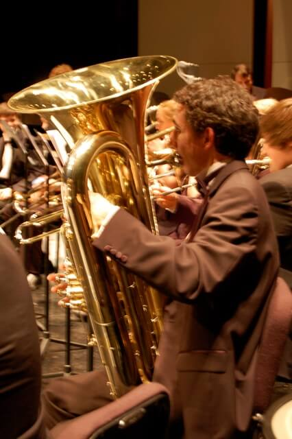 Gregory Woodward'14, who will be performing on tuba for the fundraising recital and through out Italy.