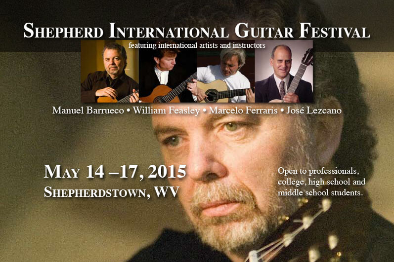 Shepherd University is hosting its first-ever International Guitar Festival Thursday through Sunday, May 14-17. The festival is open to professional musicians and to college, high school, and middle school students.