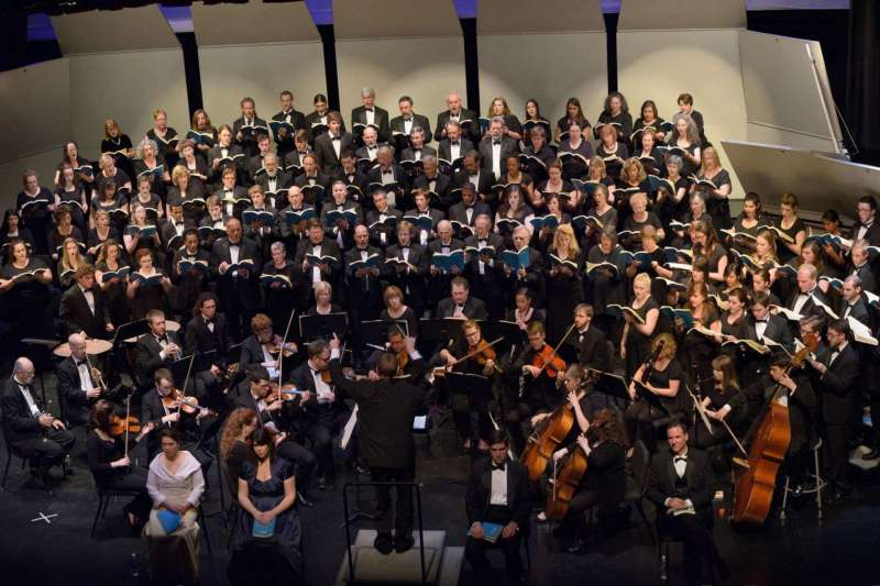 """Shepherd University's Masterworks Chorale presents a concert featuring Igor Stravinsky's """"Symphony of Psalms,"""" Vincent Persichetti's """"Celebrations"""" for wind ensemble and choir, and Aaron Copland's """"The Promise of Living"""" from the opera """"The Tender Land"""" on Saturday, April 25, at 8 p.m. in the Frank Center Theater."""