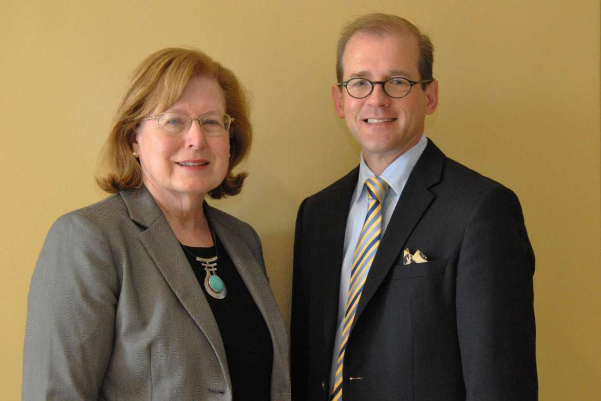 Dr. Sharon Mailey, director/chair of the department of nursing education and Dr. Scott Beard, associate vice president for academic affairs and dean of graduate studies.