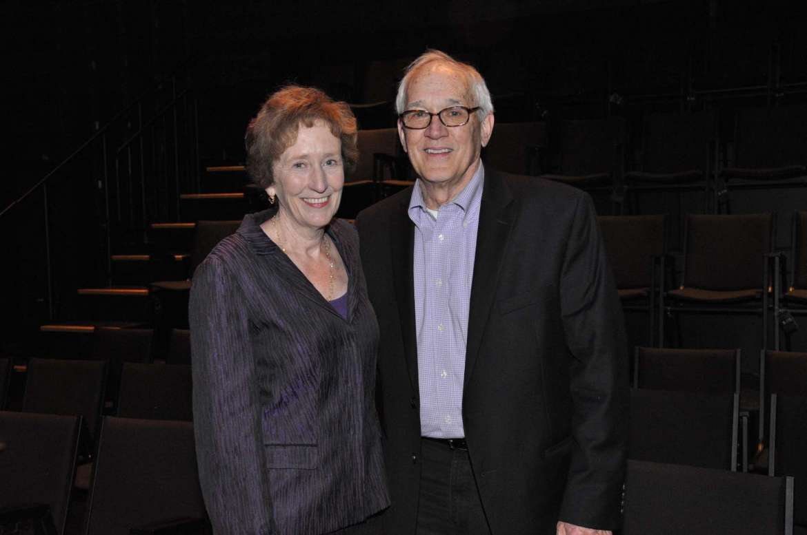 Dr. Suzanne Shipley (left), Shepherd University president, and Dow Benedict, professor of art and dean of the School of Arts and Humanities.