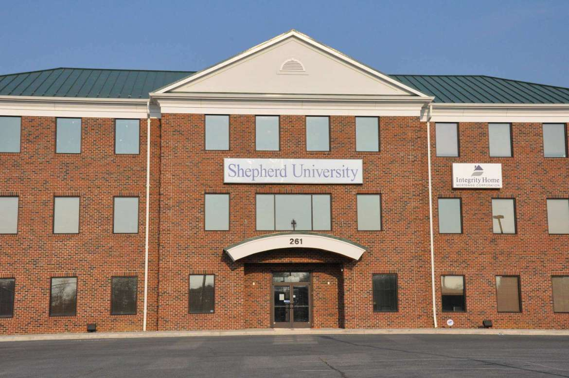 Shepherd University Martinsburg Center, located at 261 Aikens Center, Martinsburg.