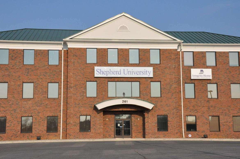 Shepherd University Martinsburg Center, located at 261 Aikens Center, Martinsburg.