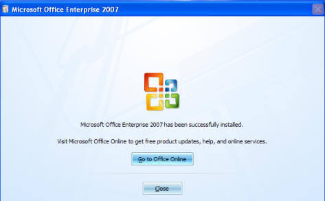 Office 2010 Installation screen