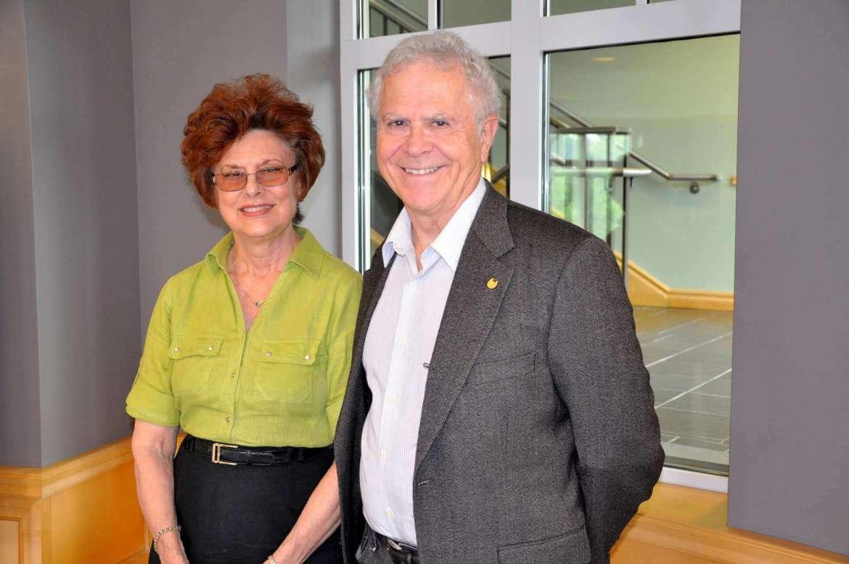 Dr. Sylvia Bailey Shurbutt, Shepherd professor of English and coordinator of the Appalachian Studies Program, and Homer Hickam, writer and winner of the 2014 Appalachian Heritage Writer-in-Residenc.