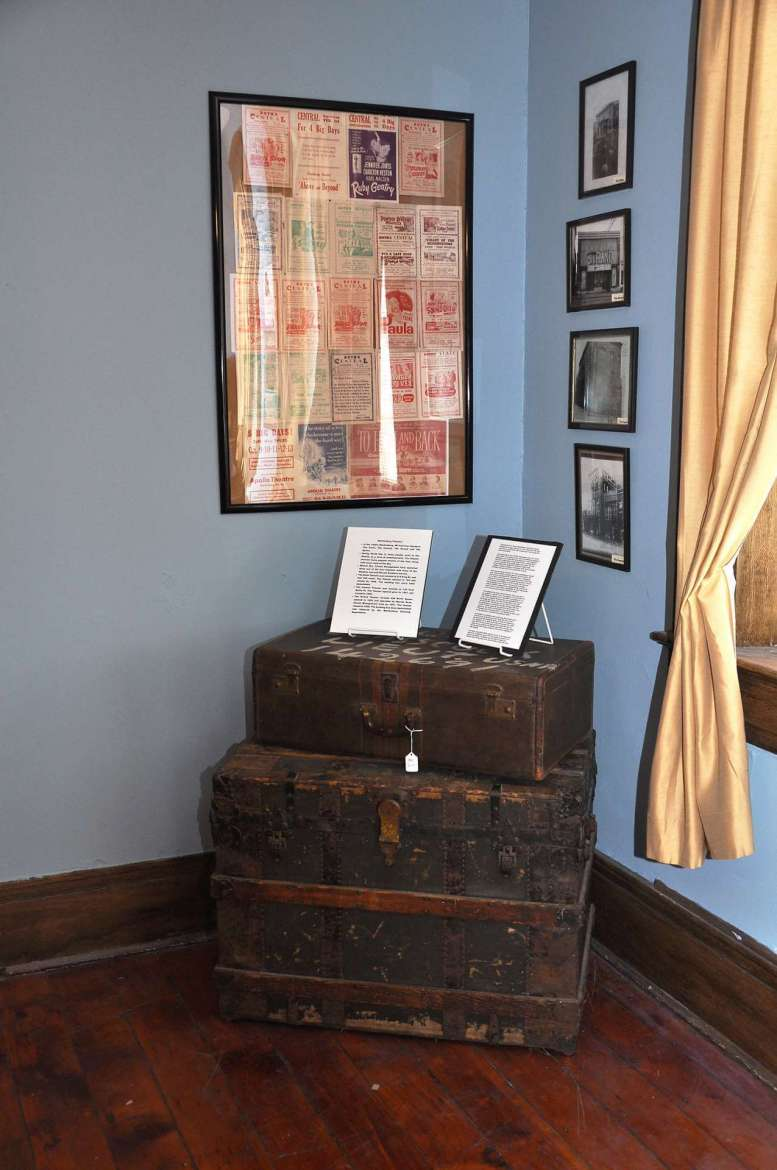 The exhibit also has information about four movie theaters that were operating in downtown Martinsburg during that era.