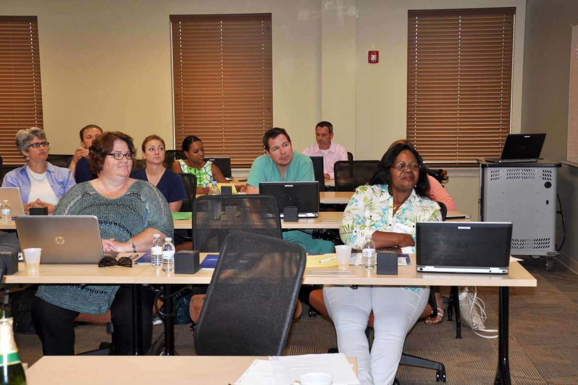 The first 15 students earning a doctor of nursing practice, Shepherd University's first-ever doctorate program, attended orientation on August 19 at the Martinsburg Center.