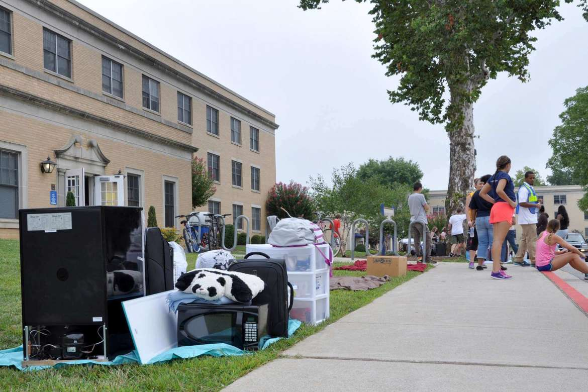 First-year students will move into the residence halls Thursday, August 20 from 9 a.m.-2 p.m.