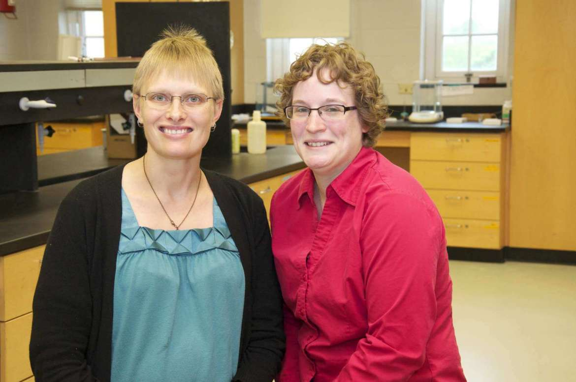Dr. Sytil Murphy (left), assistant professor of physics, and Dr. Jordan Mader, assistant professor of chemistry, received a $3,750 grant from the NASA West Virginia Space Grant Consortium to conduct Seeding Your Future, a STEM conference for middle school-age girls on October 3 at Shepherd University.
