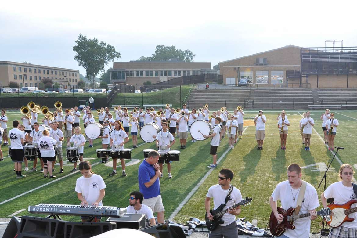The Ram Band, directed by Dr. Scott Hippensteel, associate professor of music and director of bands.