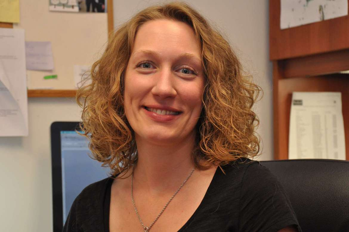 Dr. Christy Wenger, assistant professor of English and director of writing and rhetoric.