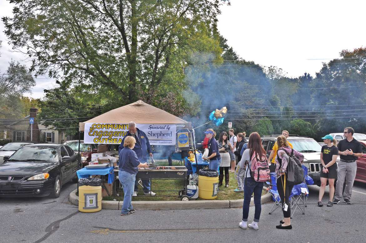 The student affairs plans to put the tent up in the commuter parking lot again on Wednesday, October 21, and Tuesday, Oct 27. A tailgate is also planned for Saturday, October 31 when the Shepherd Rams play West Liberty at Ram Stadium.