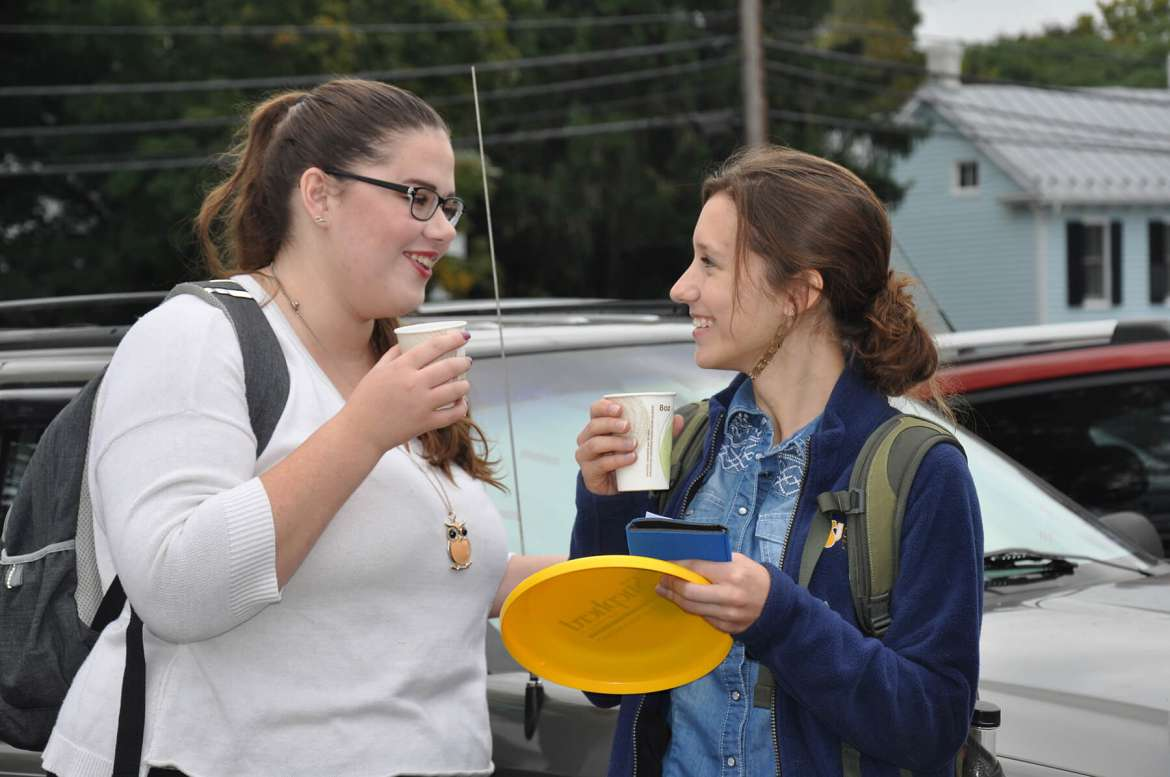 Shepherd students who commute to campus were greeted on October 7 by a welcome tent in the lot where they park their cars.