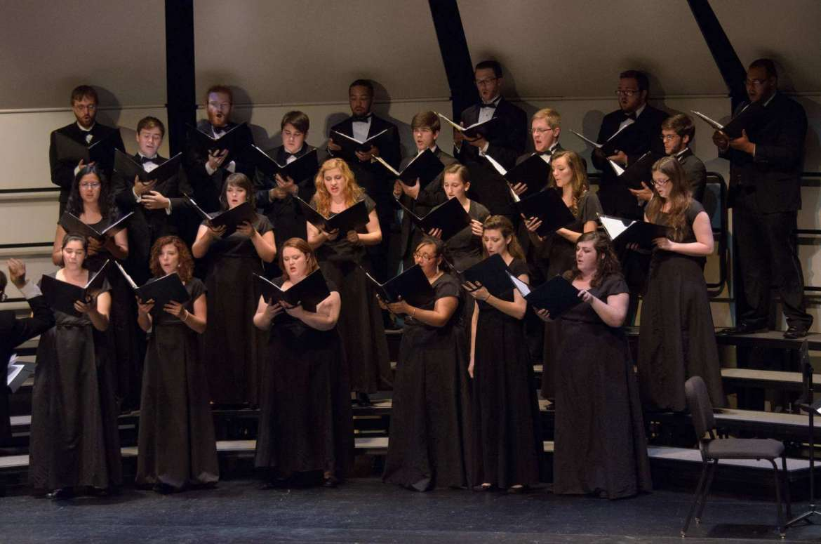 "The a cappella choirs of Shepherd University and the Master Singers of Virginia will present ""Spem in Alium"" on Friday, October 23, at 8 p.m. at St. James Catholic Church in Charles Town."