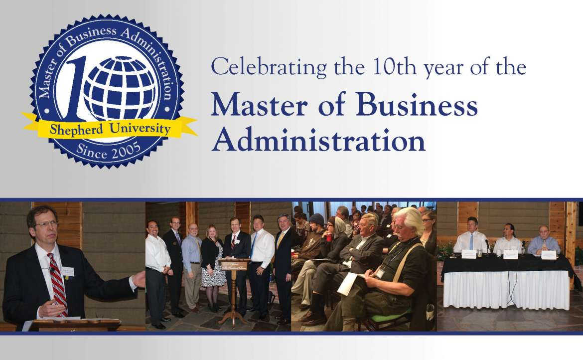 "Shepherd University's Master of Business Administration (M.B.A.) program is observing its 10th anniversary this year and will celebrate by hosting an issues forum, ""Affordable Health Care Act: The Good, The Bad and the Unknown,"" on Wednesday, October 28, from 7-8:30 p.m. at the Historic McFarland House, 409 South Queen St., Martinsburg."