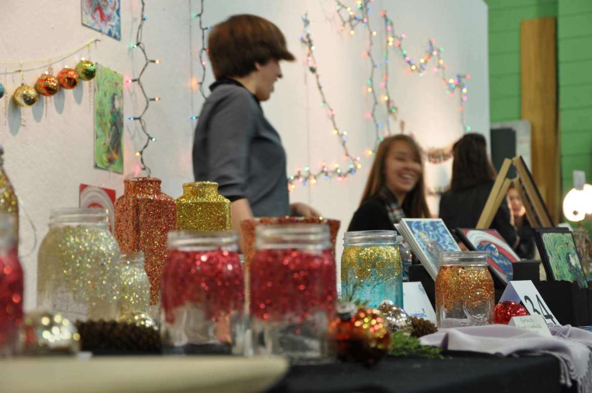 Many art pieces and crafts were available for purchase during the 2014 Art Market.