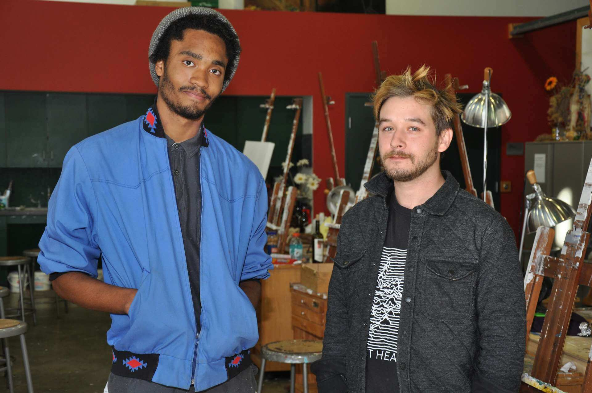 Work by Caliph Green (left), a junior art major from Winchester, Virginia, and Joshua Hawkins, a 2012 graduate, will be included in an exhibit sponsored by Tamarack at the Roberts. C. Byrd United States Courthouse in Charleston December 2-Februrary 29.