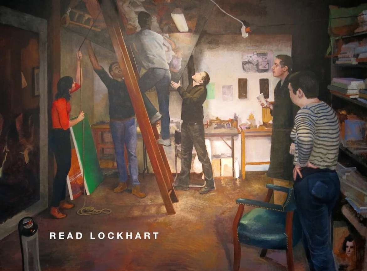"Read Lockhart, ""Descent,"" oil on canvas, 2014."