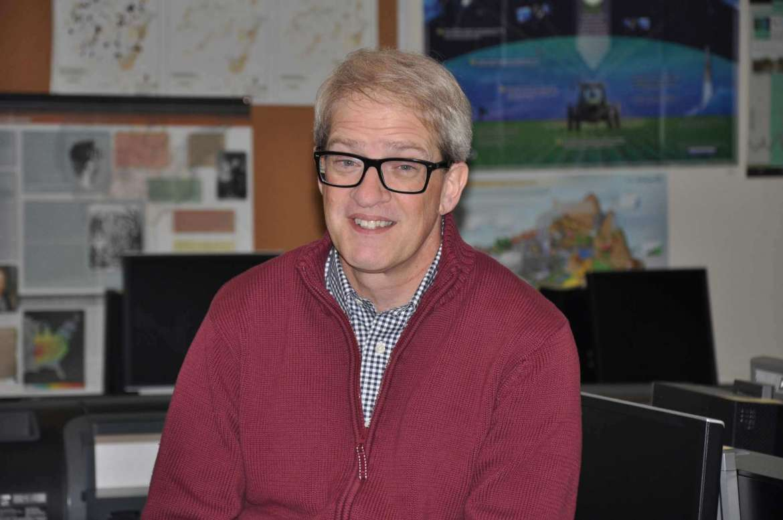 Dr. Steven Shaffer, adjunct environmental studies professor and coordinator for Shepherd's first GIS Day event.