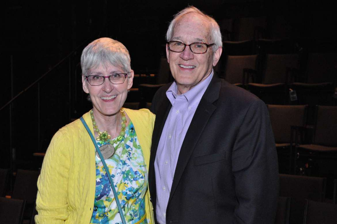 Rhonda Smith (left), chair of the Department of Contemporary Art and Theater, and Dow Benedict, dean of the School of Arts and Humanities, are both excited the department has been accredited by the National Association of Schools of Art and Design.